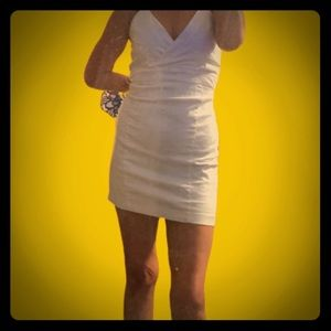 Charlotte Russe White Stretch BodyCon Dress Med Lg
